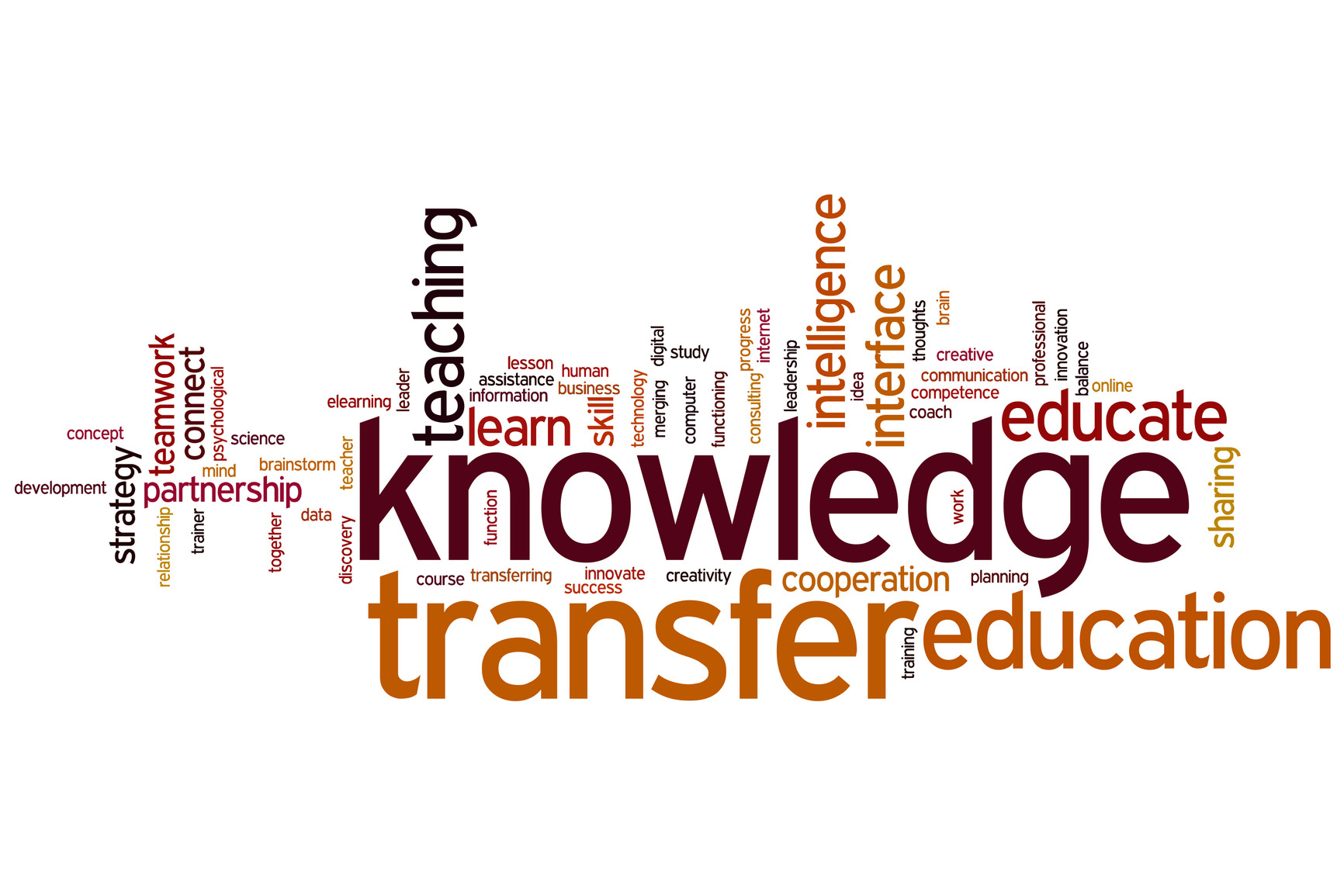 Knowledge transfer word cloud