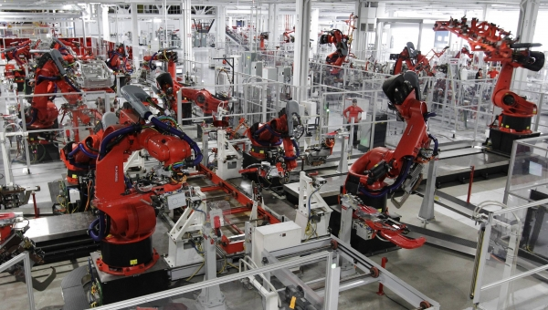 The Tesla Model S Factory in Fremont is a prime example of IIoT